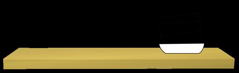 wandplank op maat in Lac goud