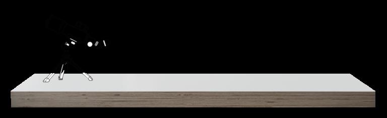 Wandplank op maat in MTX